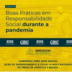 Seconci Joinville destaque em Santa Catarina com a Campanha Obra Mais Segura