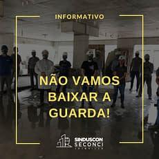 Setor da construção distribui máscaras a trabalhadores de Joinville