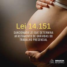 Sancionada lei que determina afastamento de grávidas do trabalho presencial