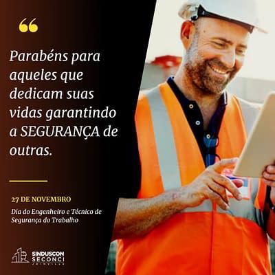 Dia do Engenheiro e Técnico de Segurança do Trabalho