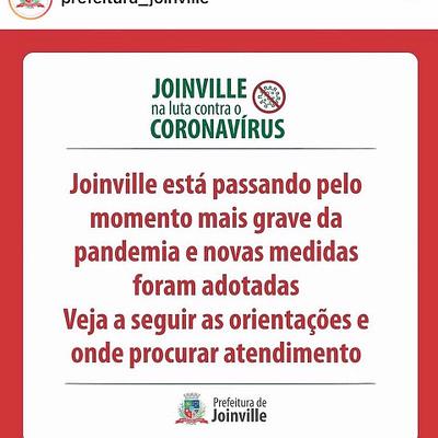 Novas Informações sobre a Pandemia em Joinville